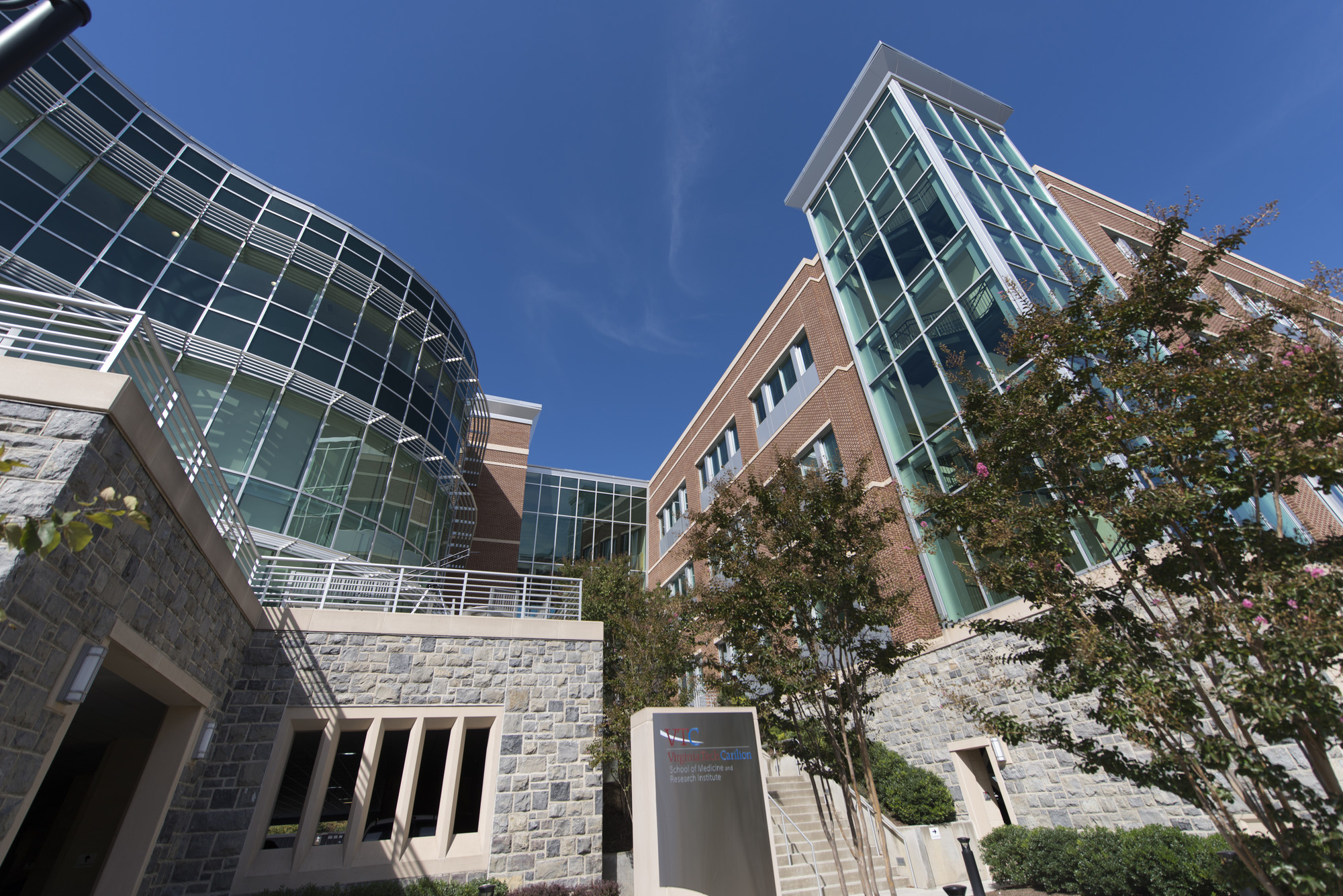 Front of the Virginia Tech Carilion School of medicine and Research Institute, Roanoke, Va. (David Hungate for VTC)
